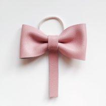 Haarstrik leer roze