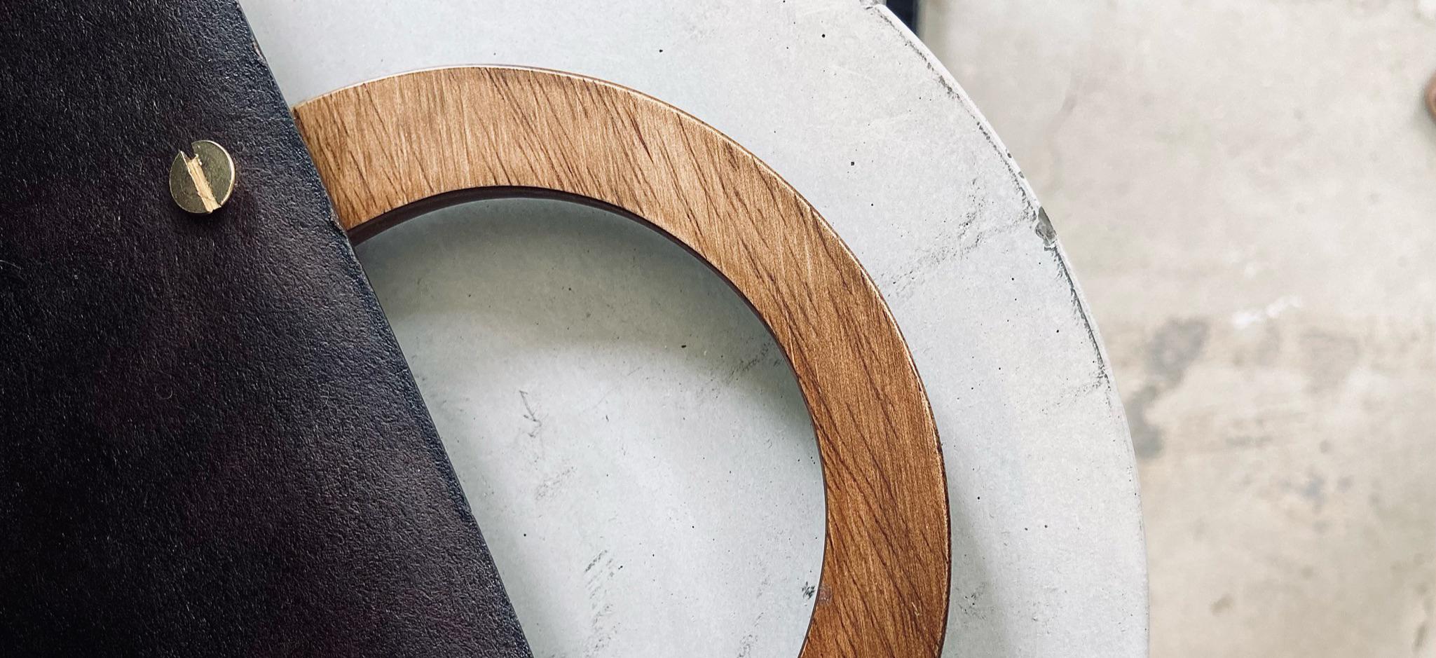Handtas met houten handvat Rozijntjes